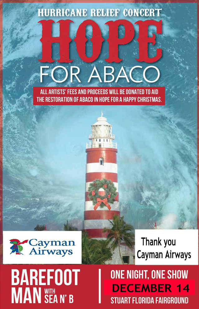 Abaco Cays Bahamas Hurricane Relief Concert with Barefoot Man